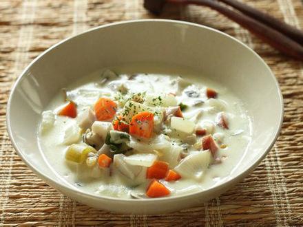 豆のチャウダースープ