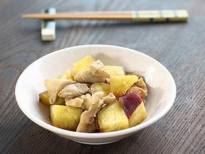サツマイモと鶏肉の甘辛煮