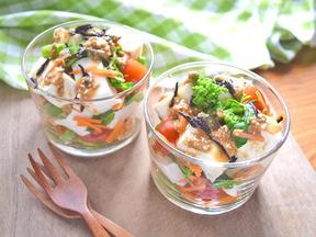 豆腐とひじきのデリ風サラダ