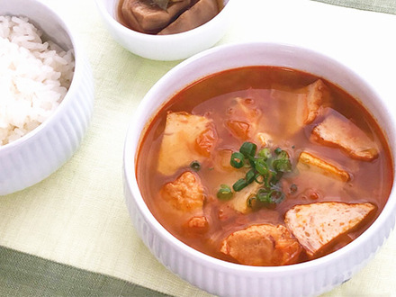 韓国さつま揚げとキムチのスープ