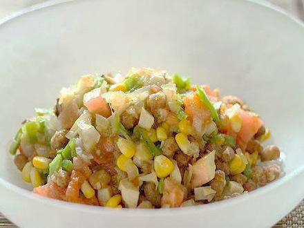 大豆と野菜のカレーマリネ