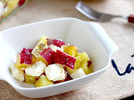 サツマイモのクリームチーズ和え