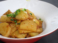 ジャガイモと韓国おでんの炒め物