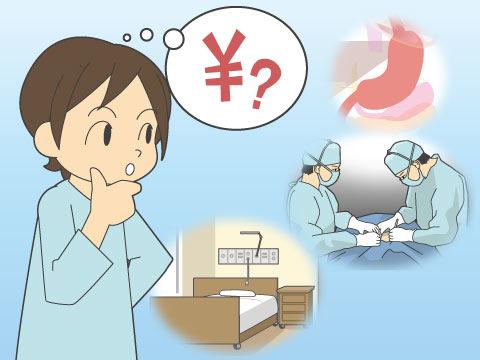 例えば胃がんの手術の場合