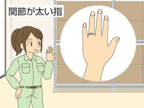 関節が太い指