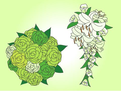 緑のブーケ