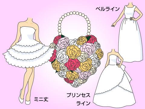 バッグブーケと相性の良いドレス