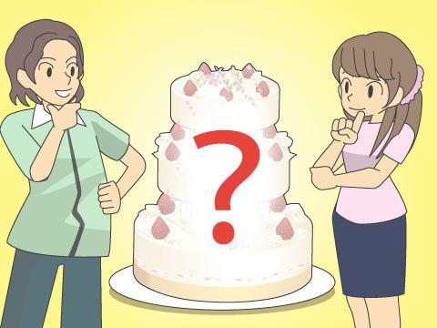ウエディングケーキにもこだわりを