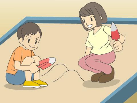 子どもたちによる「自由遊び」