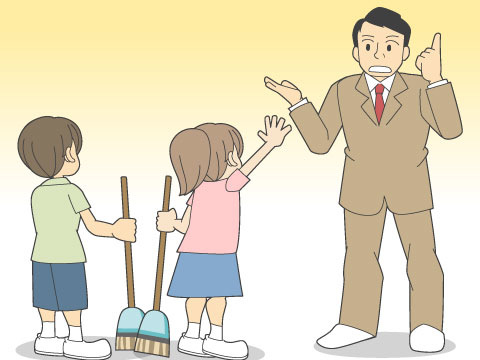 校内清掃の課題
