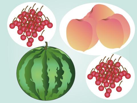 夏が旬の果物
