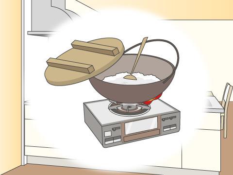 鍋、土鍋で炊く