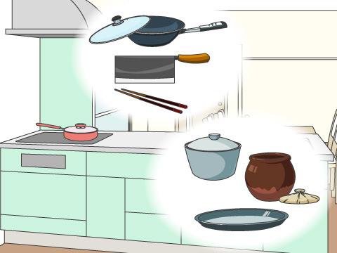 調理器具を使用頻度に分ける