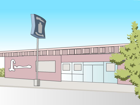 ローソン一号店がオープン