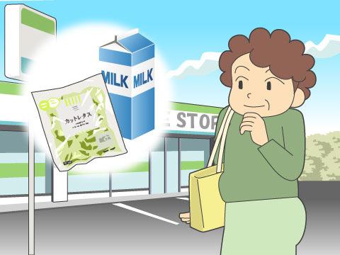 「コンビニで生鮮食品購入」は約3割に
