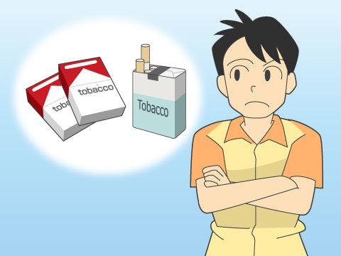 コンビニにおけるタバコの販売