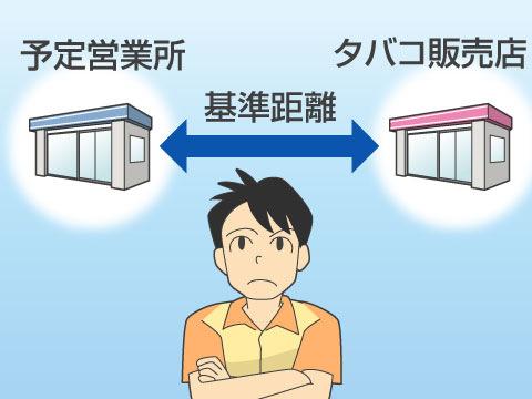 タバコ小売販売業の許可基準