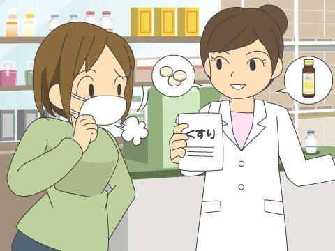 せき止め成分の入った市販薬を使用する