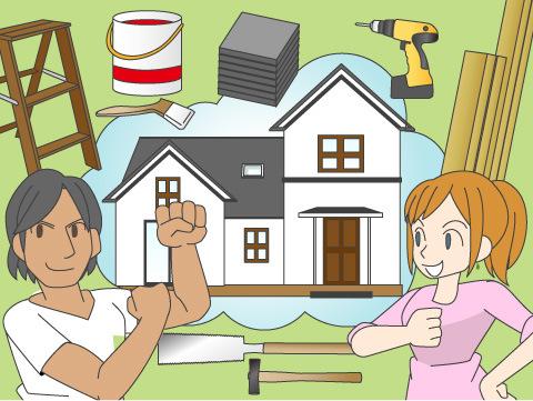 家を建てるためのキットが売られている