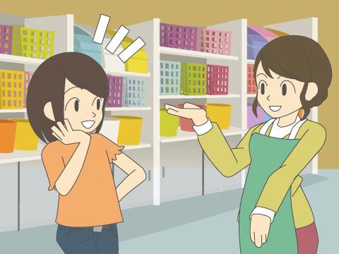 豊富な商品知識を持つ販売員が常駐