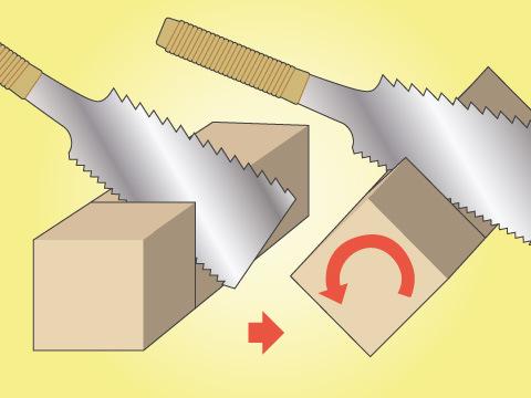 厚い木材を切るときのコツ