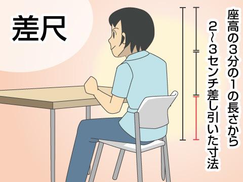 テーブルの高さはイスの高さを基準に考える