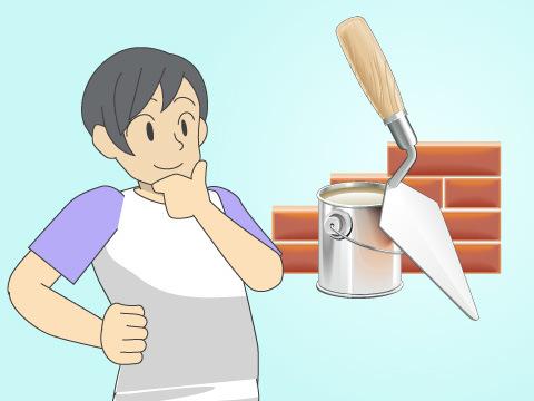 ブロック塀の穴を埋める