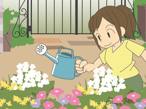 夏に開花する花