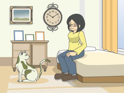 室内でネコを飼う