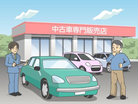 中古車買取店専門店または中古車販売店へ