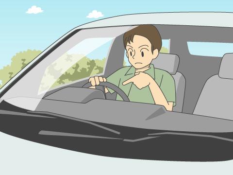 運転席に座って操作をチェック