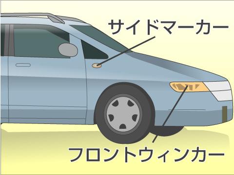 フロントウインカー、サイドマーカー