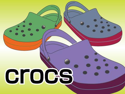 今では夏の定番「crocs(クロックス)」