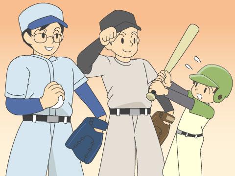 専門店を支える野球プレイヤーたち