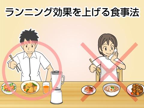 ランニング効果を上げる食事法