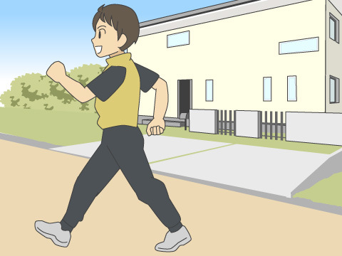 ジョギングとウォーキングをセットで