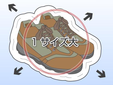 登山靴・トレッキングシューズのサイズについて