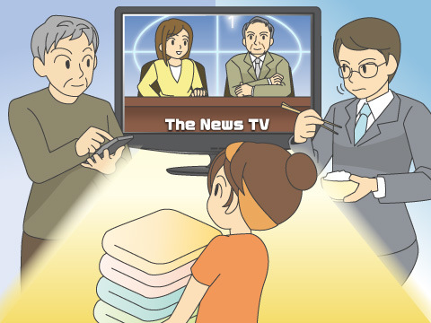24時間放送体制となったテレビ局のニュース番組