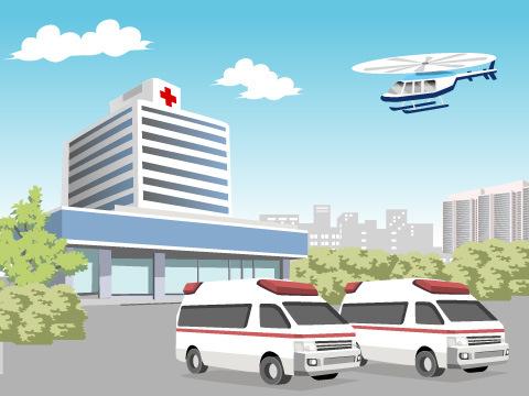 急病人や事故による負傷者などを救急搬送