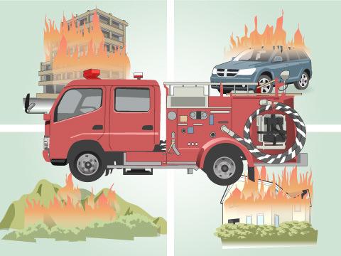 火災の種類や規模を問わず活躍