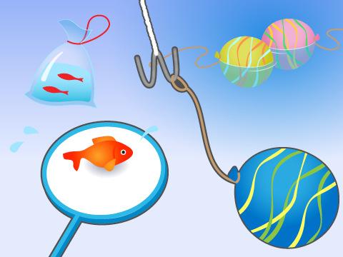金魚すくいや水ヨーヨーすくい