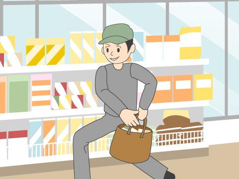人の物を盗み窃取する「窃盗」