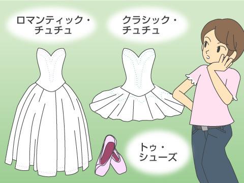 バレエの技法と衣裳