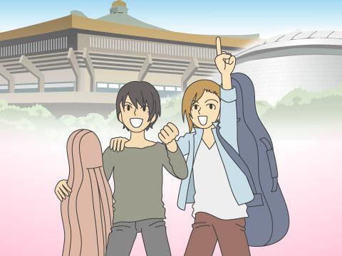 日本武道館と東京ドームの公演記録