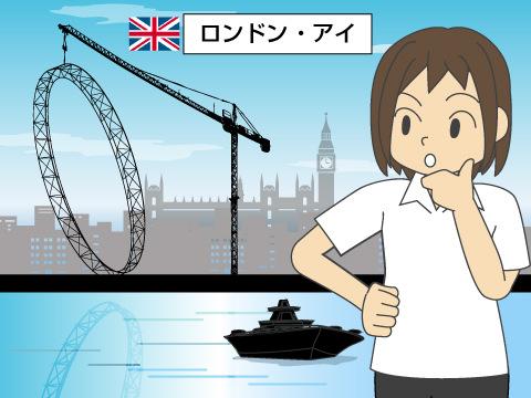 ロンドン・アイはテムズ川の上で作られた