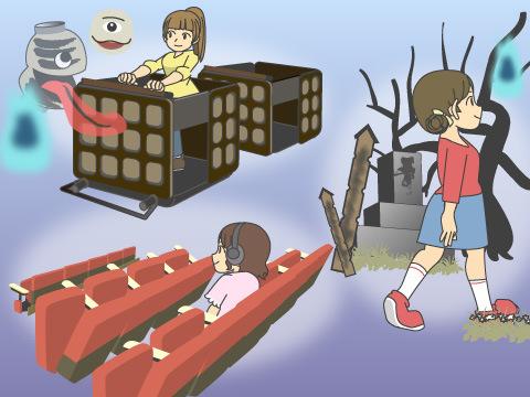 日本のお化け屋敷は3つのタイプがある
