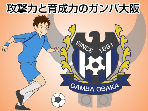 攻撃力と育成力のガンバ大阪