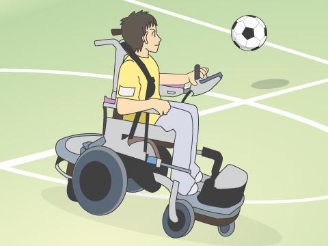 パワーチェアーフットボール(電動車椅子サッカー)