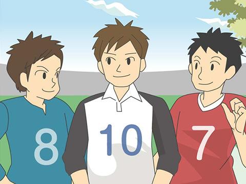背番号が表すチームのエース