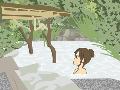 乳白色の温泉